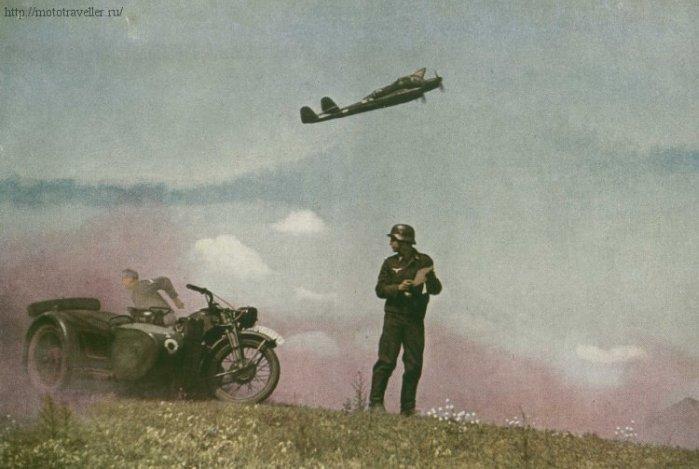 цветная фотография мотоцикла великой отечественной войны