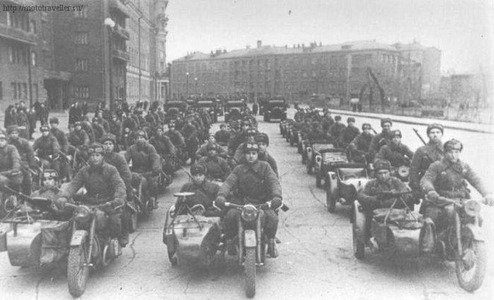 фотография мотоциклов второй мировой войны мотоциклы ссср