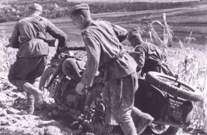 фотография мотоцикла красной армии второй мировой войны