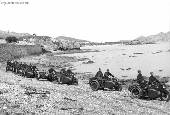 фотография советстких отечественных мотоциклов великой отечественной войны
