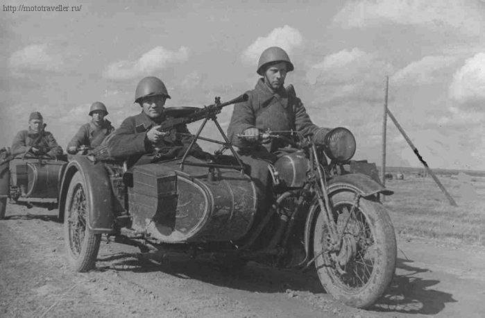 фотография военного мотоцикла красной армии второй мировой войны