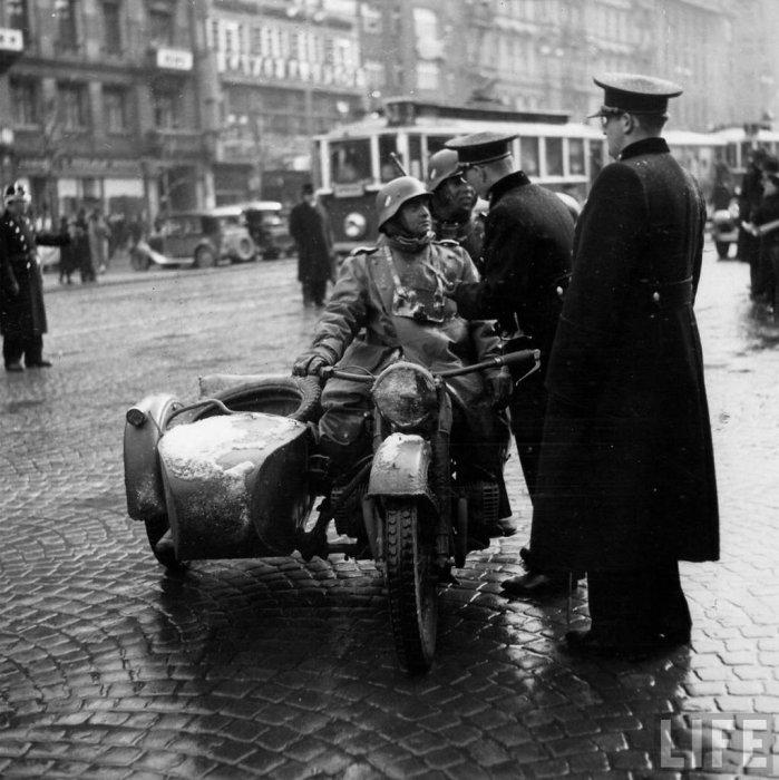фотография мотоцикла Вемахта второй мировой войны