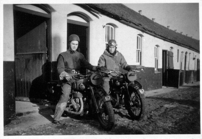 фотография военных мотоциклов второй мировой войны