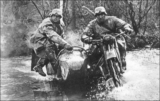 фотография мотоцикла Вермахта