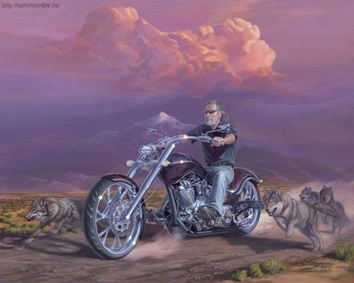 Biker paintings