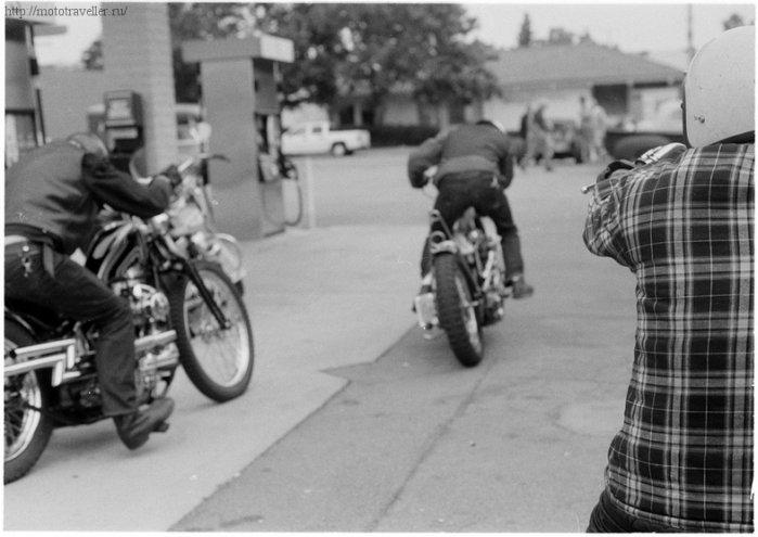 Мотоциклисты на бобберах