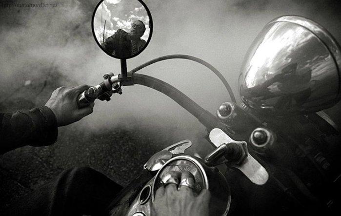 Старый мотоцикл Харлей
