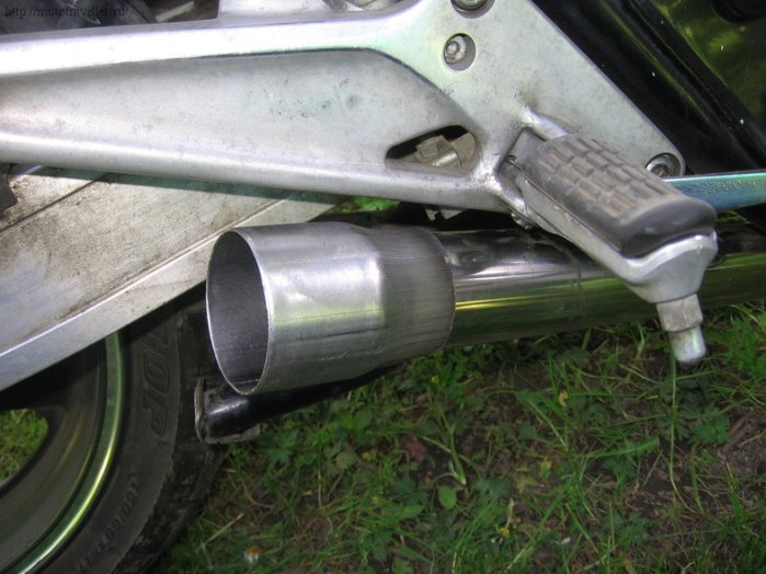 Установка прямотока на мотоцикл