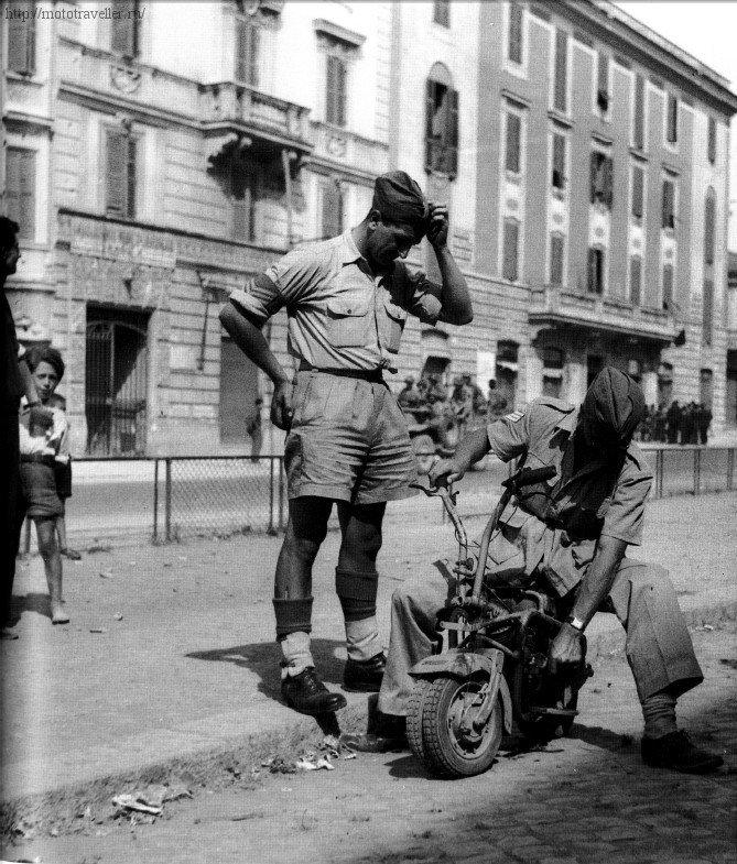 Итальянский военный мотороллер Vologrufo