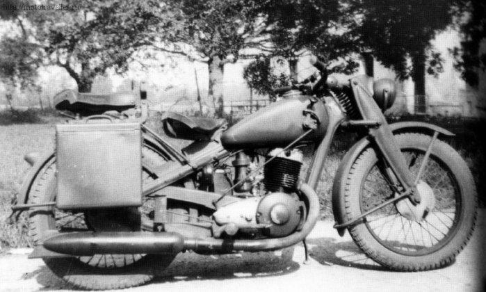 Трофейный военный мотоцикл DKW