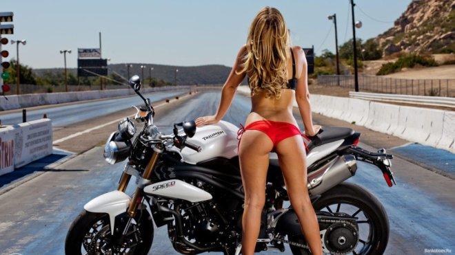 Знакомства c девушкой на мотоцикле