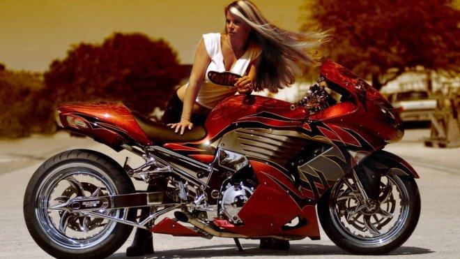 Фото видео мотоциклов с девушками