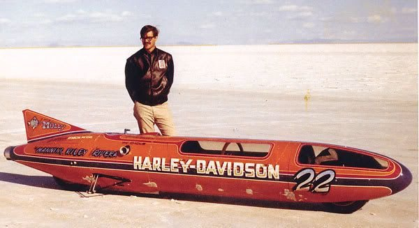 Один из самых быстрых мотоциклов в мире Harley-davidson, установивших мировой рекорд скорости