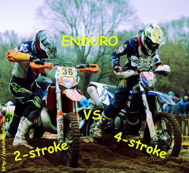 Мотоциклы эндуро. Двухтактники против четырехтактников.