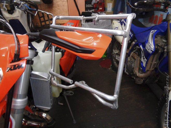Изготовление защиты радиаторов для мотоцикла KTM exc